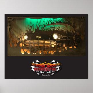 """""""Dos poster del metal del tono"""" 54 Chevy"""
