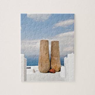 Dos potes grandes en la isla de Santorini Puzzle
