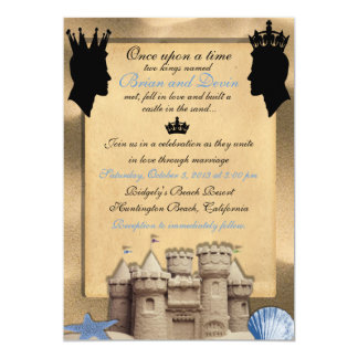 Dos reyes Custom Gay Wedding Invitations Invitación 12,7 X 17,8 Cm