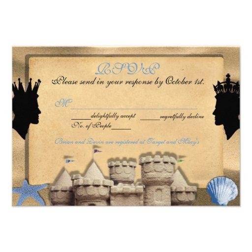 Dos reyes Custom Gay Wedding RSVP Cards Comunicado Personal