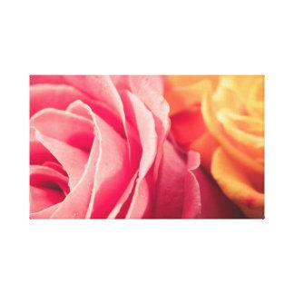 Dos rosas lienzo