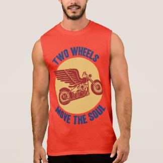Dos ruedas camiseta sin mangas