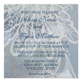 Dos serán uno (el 5:31 de Ephesians) Invitación 13,3 Cm X 13,3cm