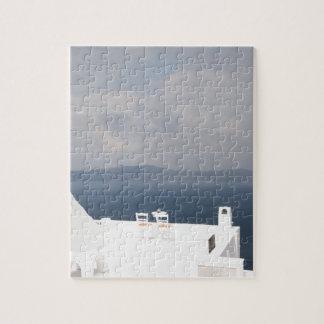 Dos sillas en la isla de Santorini Puzzle