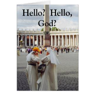 Dos tarjetas de dios de la charla 2 de las monjas