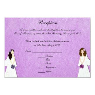 Dos tarjetas de encargo de la recepción del boda invitación 8,9 x 12,7 cm