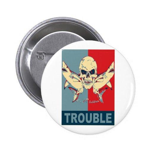 Dos tiburones y un problema cráneo-Doble Pins
