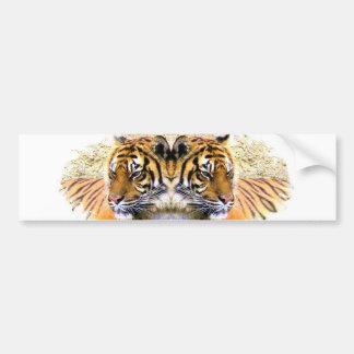 Dos Tigers_ Etiqueta De Parachoque