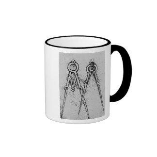 Dos tipos de compás de la ajustable-abertura taza de café