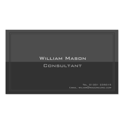 Dos tono gris, tarjeta de visita profesional