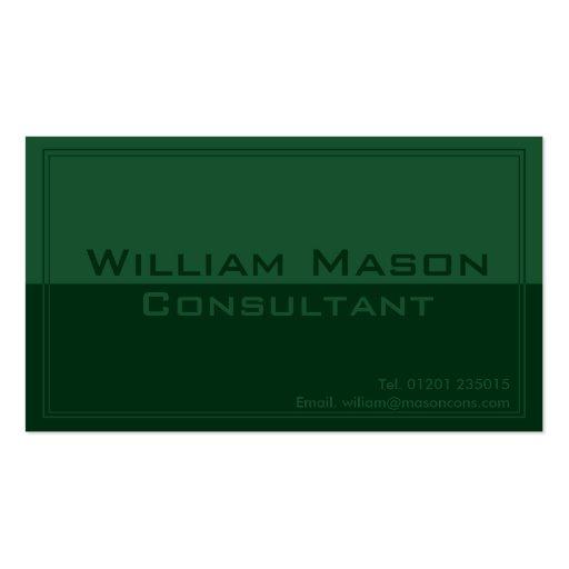 Dos tono verde, tarjeta de visita profesional
