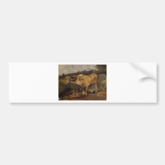 Dos toros que llevan un yugo de Enrique de Pegatina Para Coche