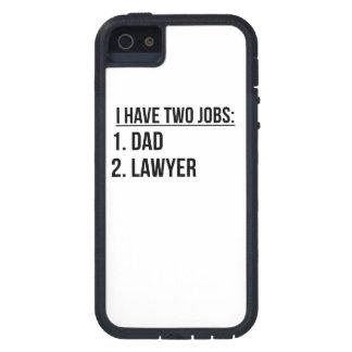 Dos trabajos papá y abogado iPhone 5 Case-Mate cárcasa