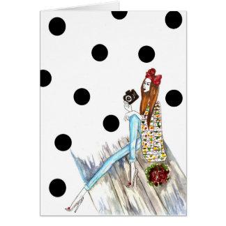 Dots and camera tarjeta de felicitación