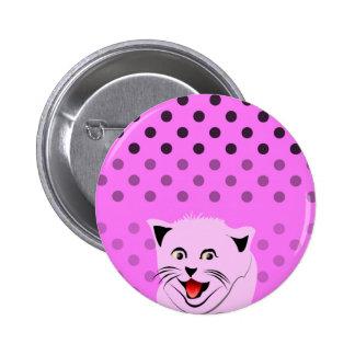 Dots_cats_pink_patterns_design de la polca pins