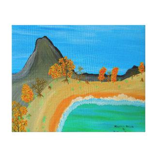 Dpi 20' de la imagen 600 playa de la montaña de lienzo