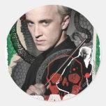Draco Malfoy 6 Pegatina Redonda