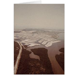 Dragado de la isla, Marco Island, la Florida, 1973 Tarjeta De Felicitación