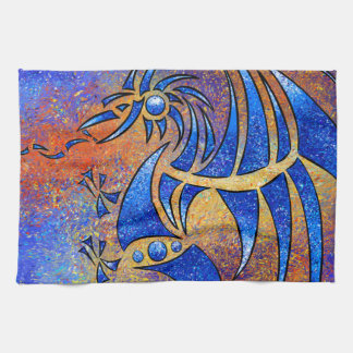 Dragissous V1 - dragón azul Paño De Cocina