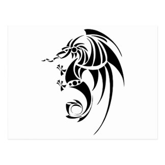 Dragissous V1 - dragón negro Postal