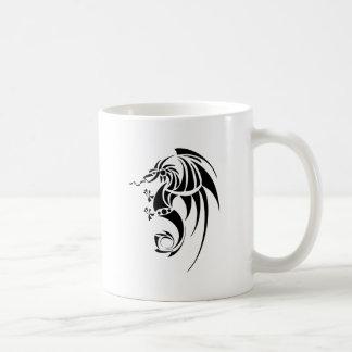 Dragissous V1 - dragón negro Taza De Café