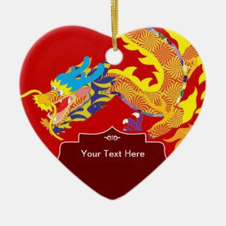 Dragón afortunado del chino del encanto ornamento de navidad