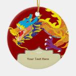 Dragón afortunado del chino del encanto ornamento de reyes magos