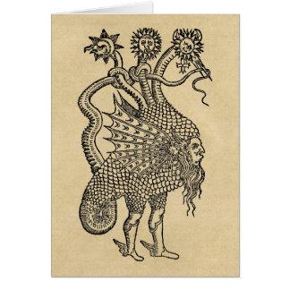 Dragón alquímico tarjeta de felicitación