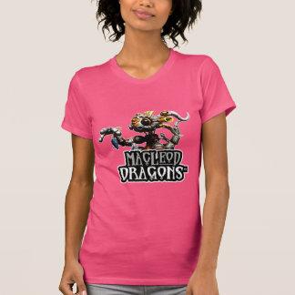 Dragón American Apparel T, fucsia del MD Steampunk Camisetas