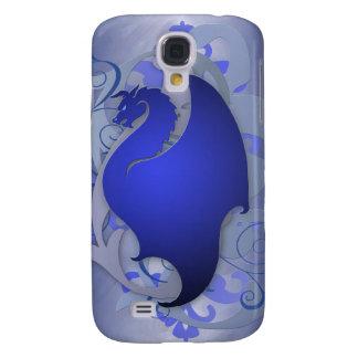 Dragón azul brillante 3g de la fantasía urbana funda para galaxy s4
