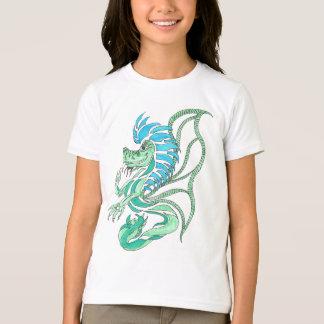 Dragón azul tribal camisetas