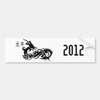 Dragón chino 2012 del Año Nuevo Pegatina Para Coche