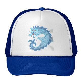 Dragón chino azul gorro de camionero