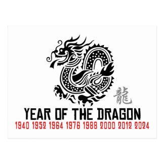 Dragón chino del Año Nuevo Postal