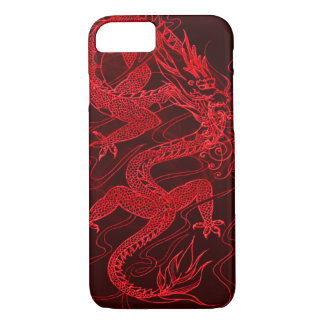 Dragón chino del fuego funda iPhone 7