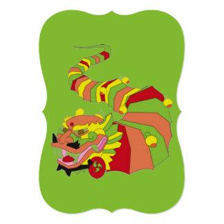 Dragón chino grande invitación 12,7 x 17,8 cm