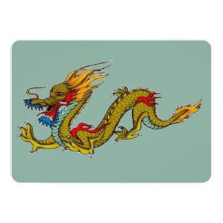 Dragón chino invitación 12,7 x 17,8 cm