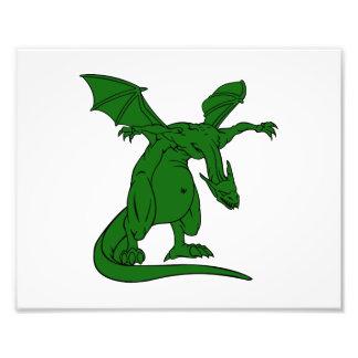dragón con alas green.png del medio de la situació fotografía