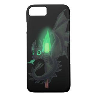 Dragón con el fuego verde funda iPhone 7