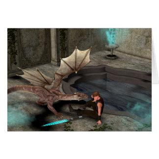 Dragón con su compañero felicitacion