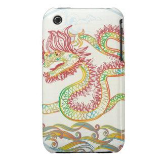 dragón de agua elegante por los 2012 Años Nuevos Case-Mate iPhone 3 Funda
