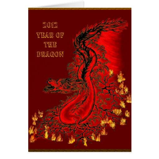 dragón de China - 2012 - Year Of The Dragon Felicitación