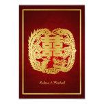 Dragón de la felicidad/Phoenix dobles chinos RSVP Invitaciones Personalizada