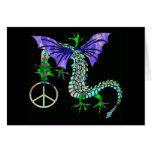 Dragón de la paz felicitaciones