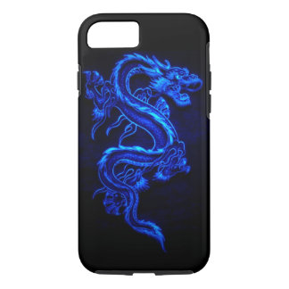 "DRAGÓN DE NEÓN AZUL ""DRAGA "" FUNDA iPhone 7"