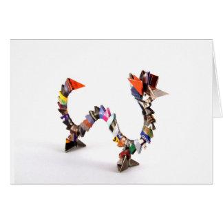 Dragón de Origami Tarjeta De Felicitación