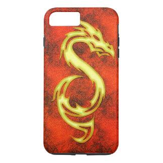 Dragón de oro funda para iPhone 8 plus/7 plus