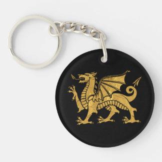 Dragón de oro llavero