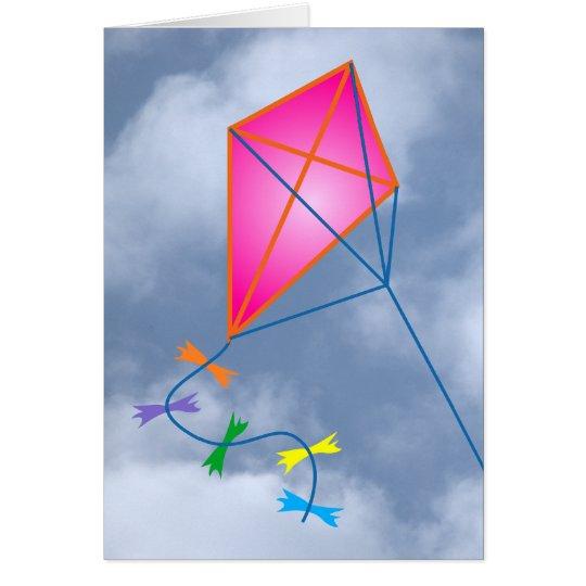 Dragón de papel kite tarjeta de felicitación