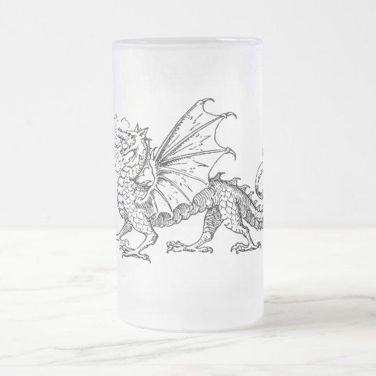 Dragón de Primping Jarra De Cerveza Esmerilada